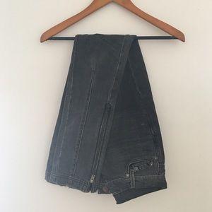 DKNY moto style skinny jeans size 2/S